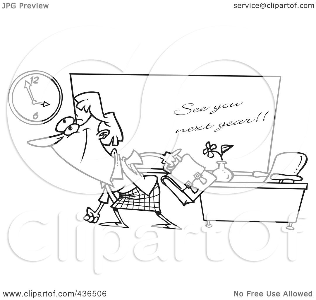 Royalty Free Rf Clipart Illustration Of A Line Art