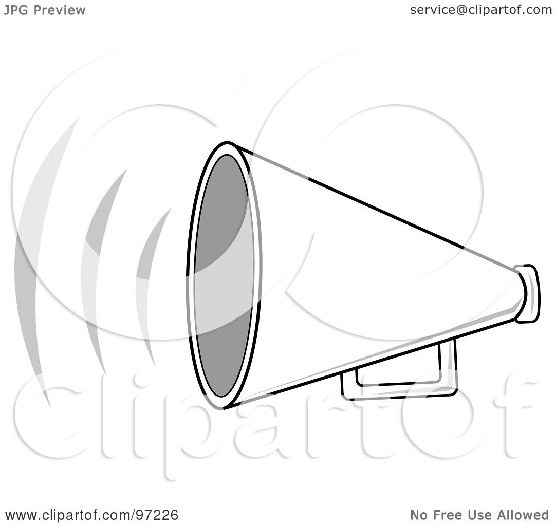 Royalty Free Rf Clipart Illustration Of A Loud White
