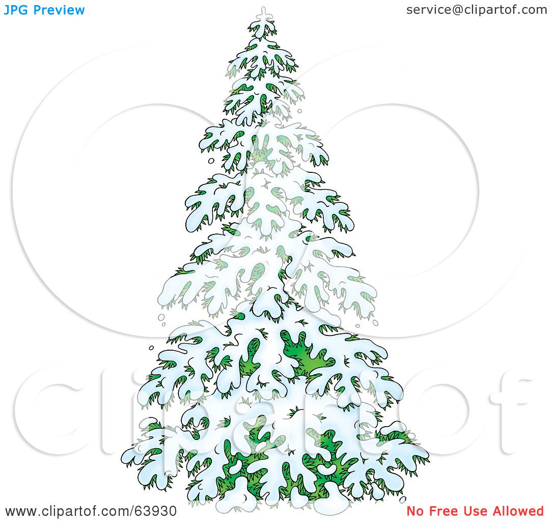 Image result for clipart of a snow covered evergreen