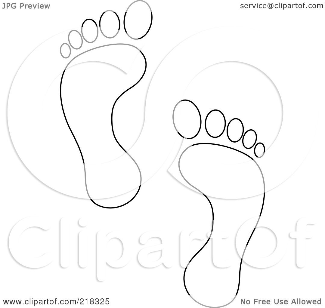 Baby Footprint Outline Sketch Coloring Page
