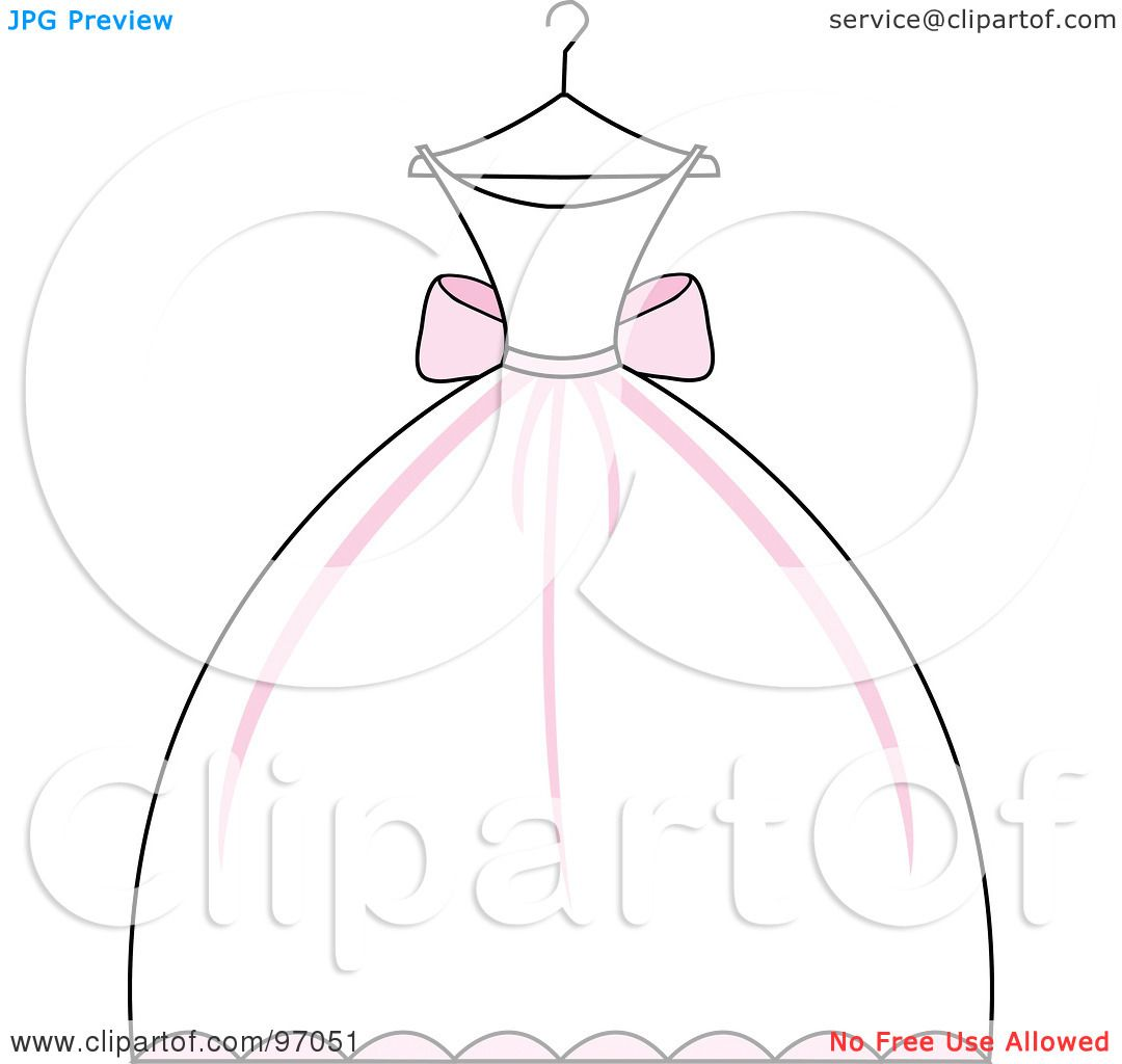 Royalty Free Rf Clipart Illustration Of A Pink And White