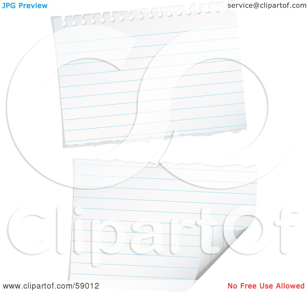 Royalty Free Rf Clipart Illustration Of A Ripped Piece