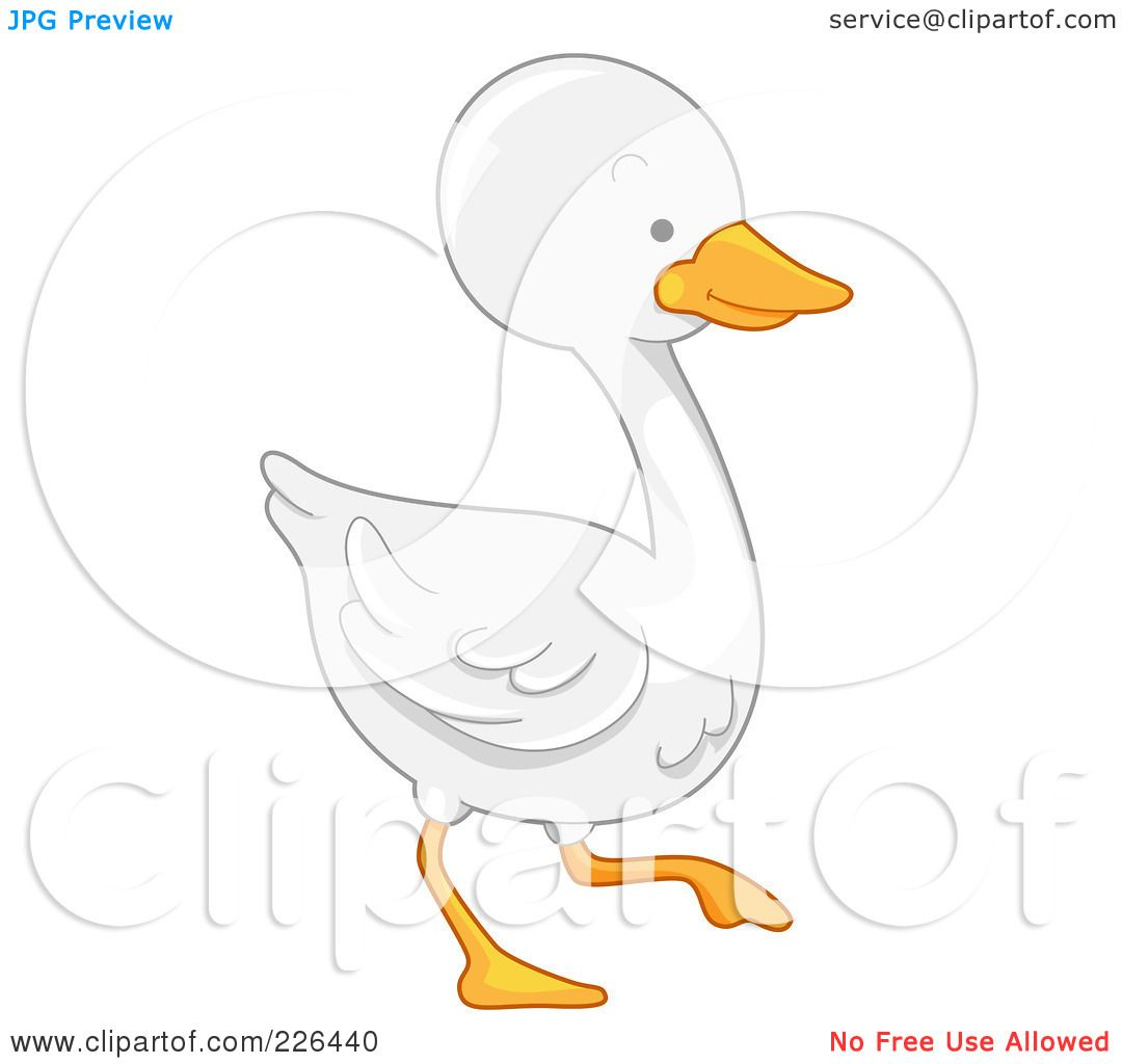 Royalty Free Rf Clipart Illustration Of A White Goose By