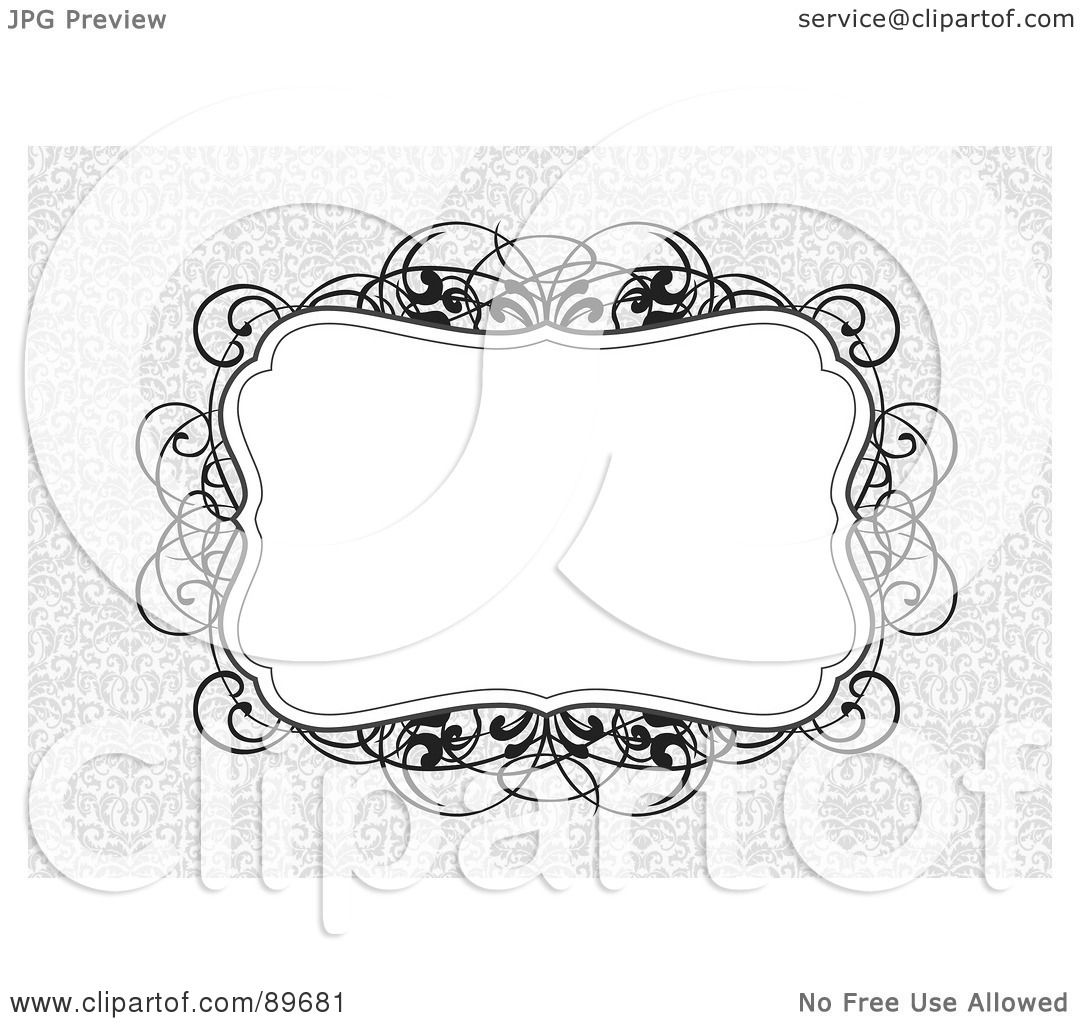 Royalty Free Rf Clipart Illustration Of An Invitation