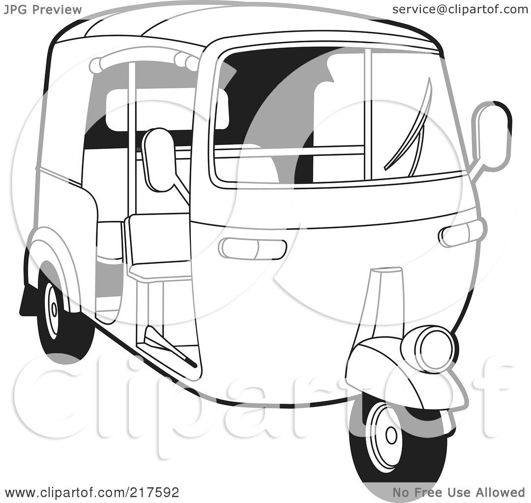 Royalty Free Rf Clipart Illustration Of An Outlined 3