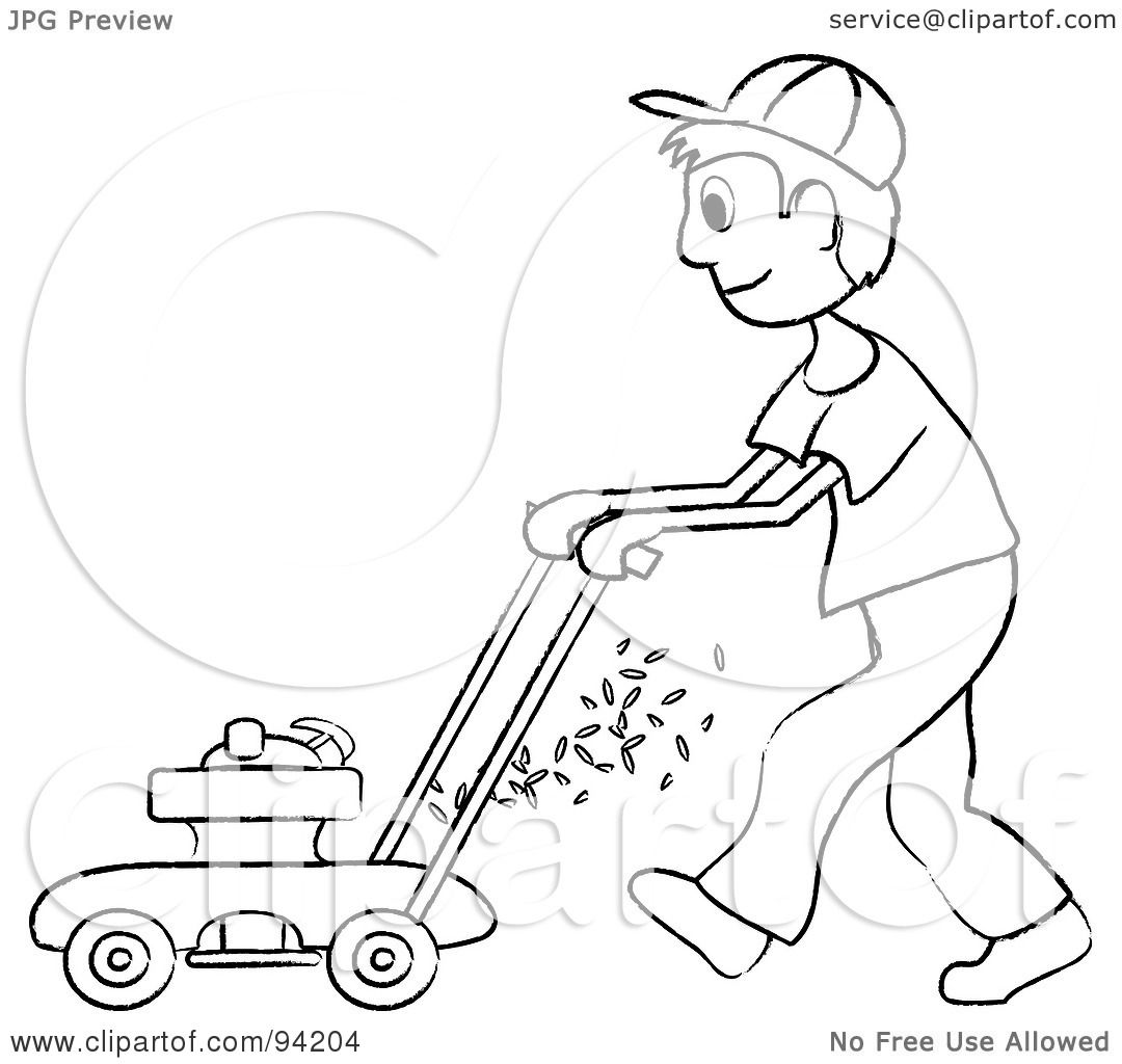 Lawnmower Coloring Pages