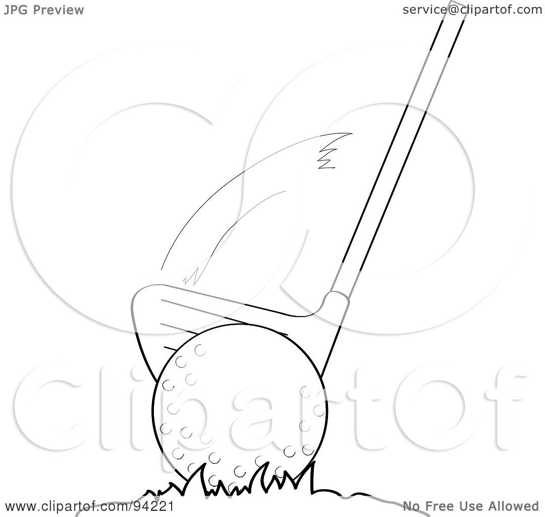 Royalty Free Rf Clipart Illustration Of An Outlined Golf