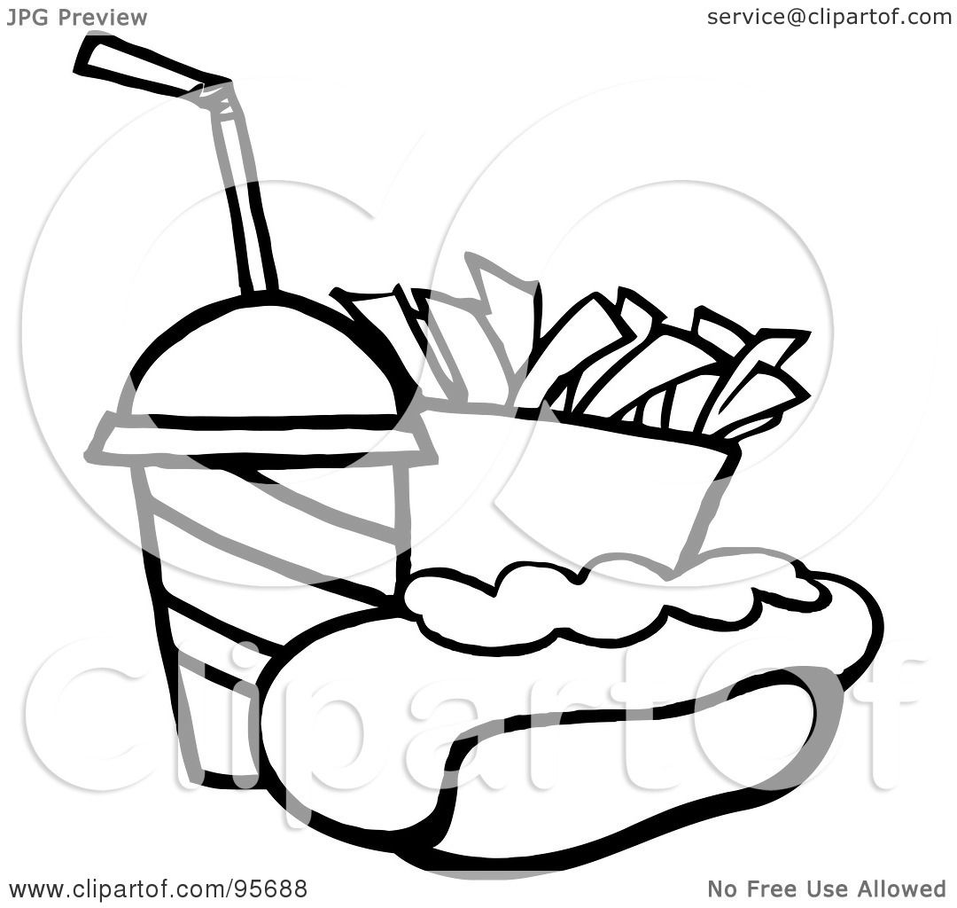Royalty Free Rf Clipart Illustration Of An Outlined Hot