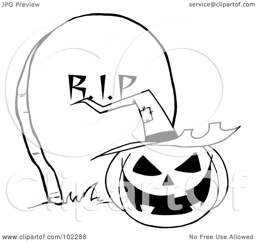 Royalty Free Rf Clipart Illustration Of An Outlined Jack
