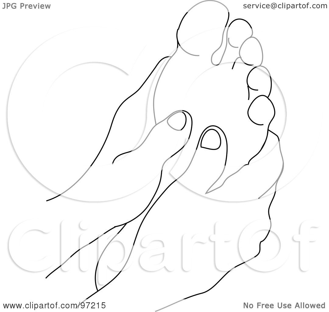 Royalty Free Rf Clipart Illustration Of An Outlined Pair