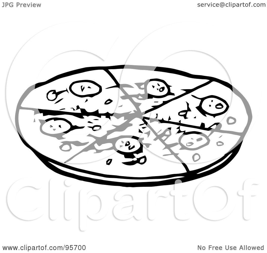 Pin Pepperoni Clip Art Black And White Cake