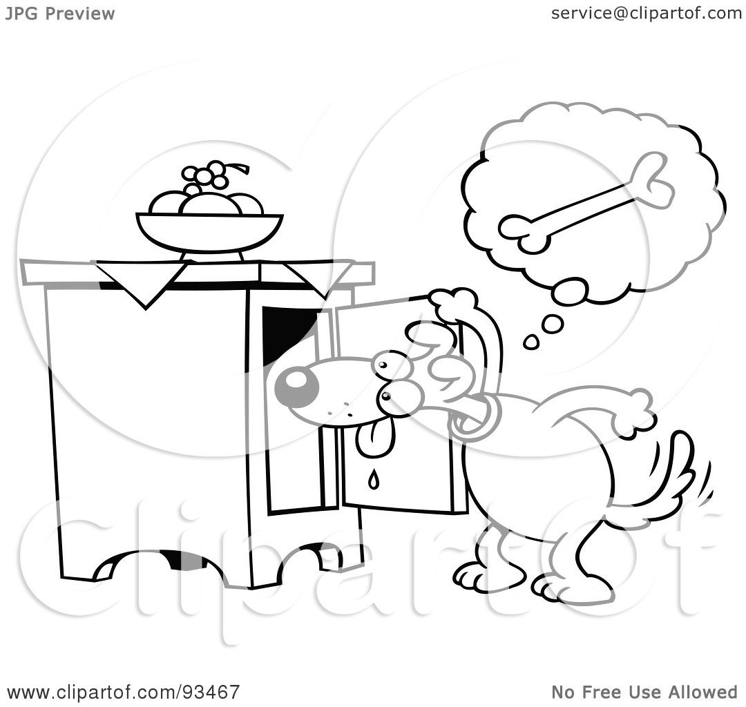 Royalty Free Rf Clipart Illustration Of An Outlined Toon