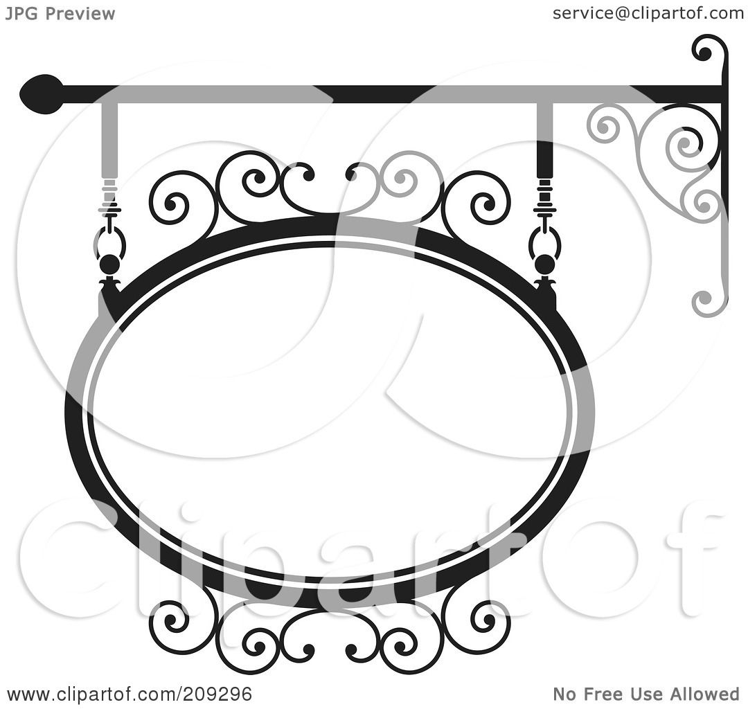 Royalty Free Rf Clipart Illustration Of An Oval Wrought