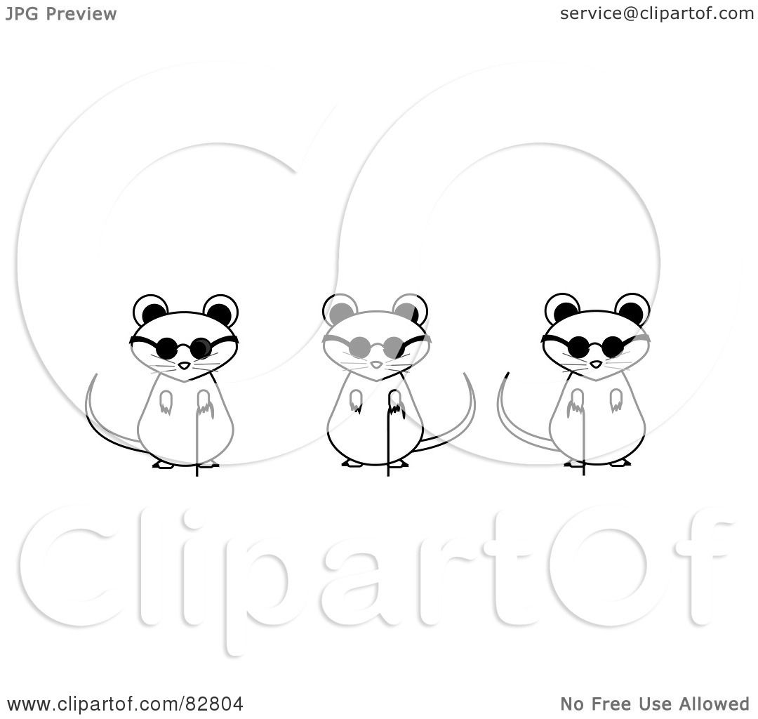 Three Blind Mice Coloring Pages