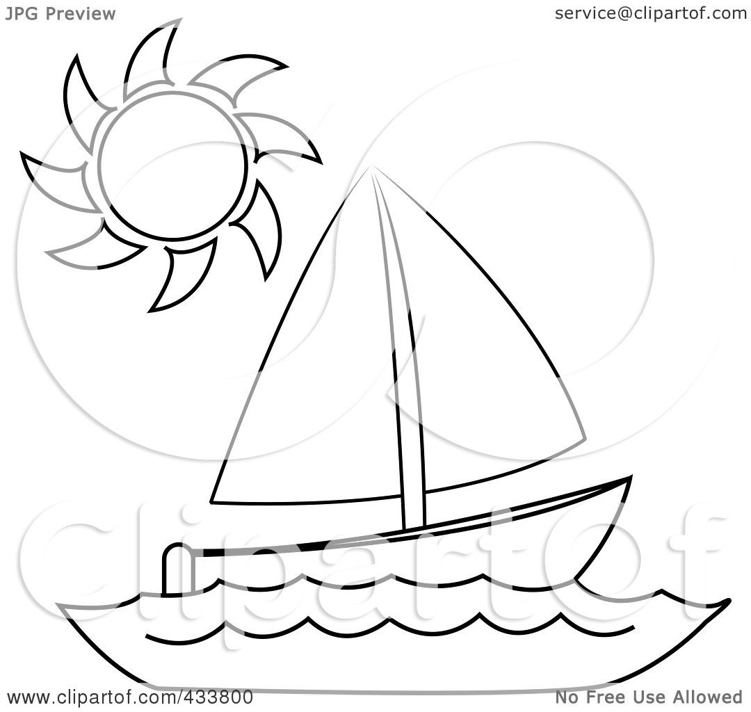 Royalty Free Rf Clipart Illustration Of Line Art Of A