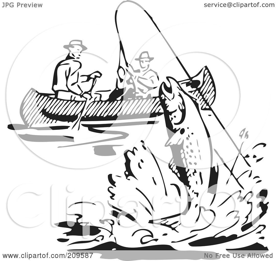 Lake Fishing Boat Clipart