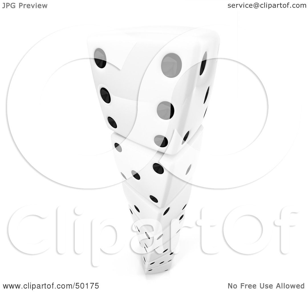 Royalty Free Rf Clipart Illustration Of White 3d Dice