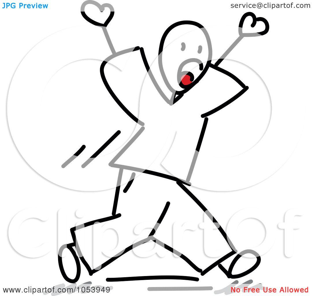Royalty Free Vector Clip Art Illustration Of A Stick Man