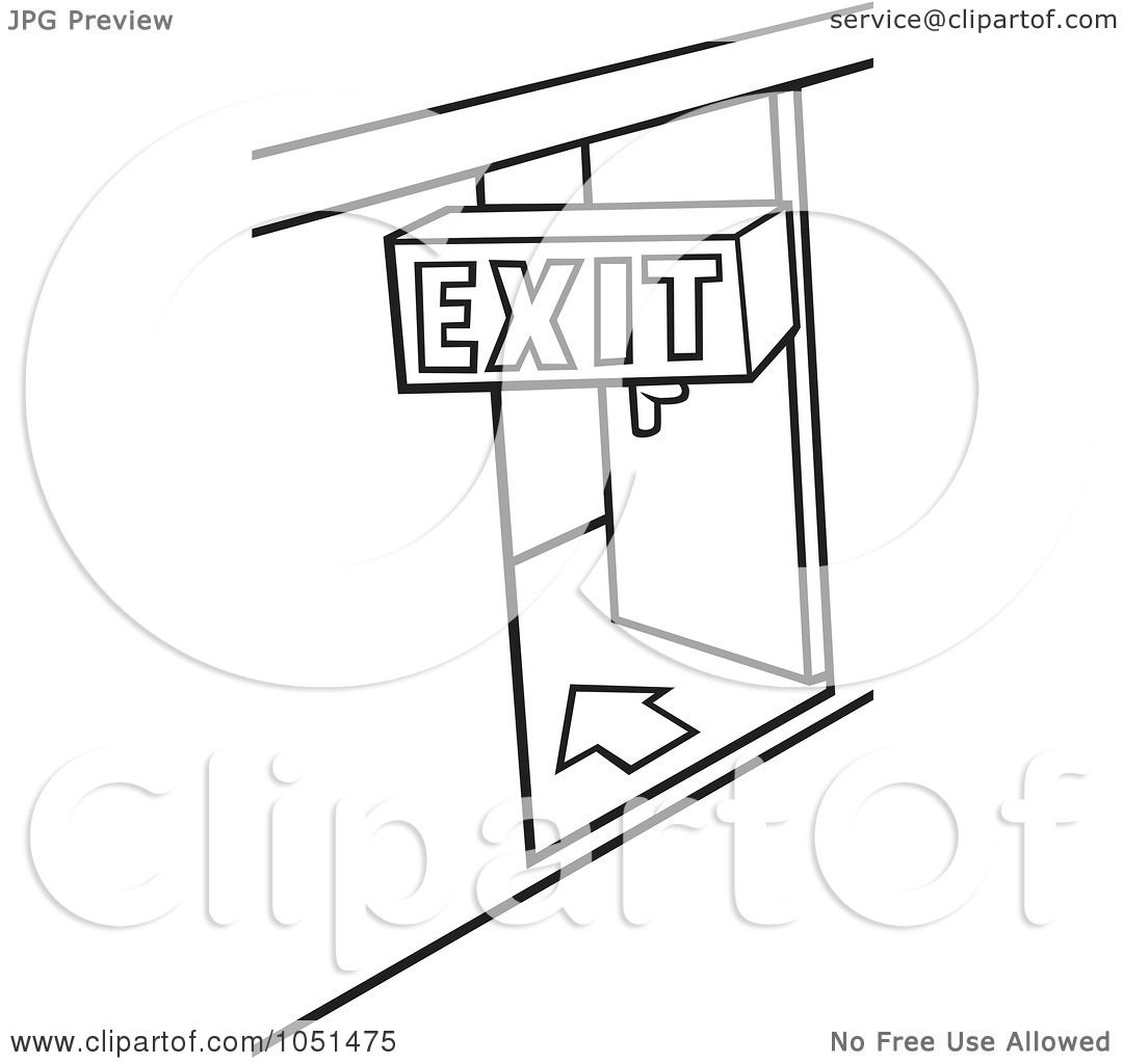 Small Black Exit Sign
