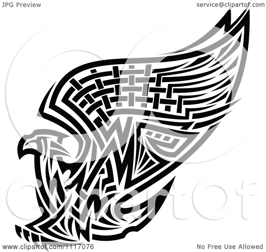 Eagle Watercolor White Background