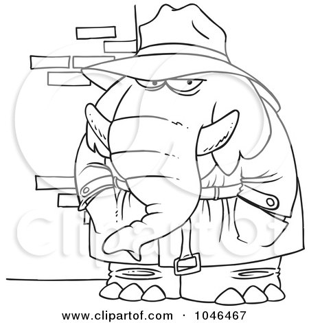 Royalty Free Rf Clip Art Illustration Of A Cartoon Female Detective By Toonaday 1047948