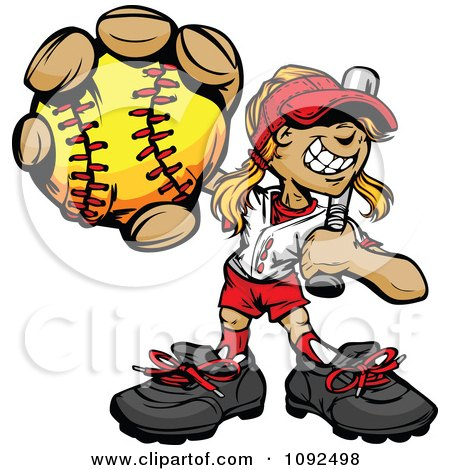 softball catcher clipart