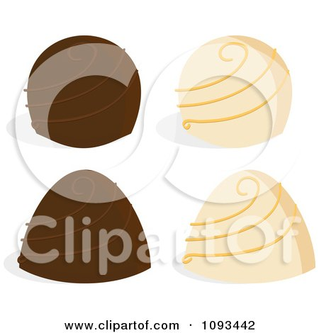 Clipart Of A Valentine Chocolate Truffle With Sparkles