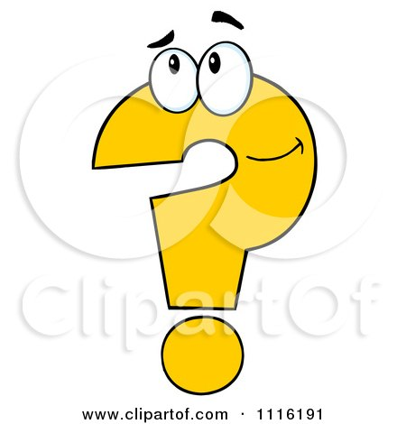 Clipart Thinking Yellow Question Mark Royalty Free