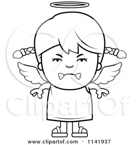 Royalty Free RF Mad Angel Clipart Illustrations Vector