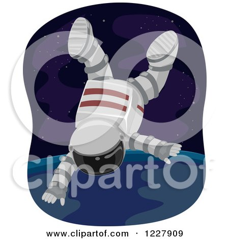 Clipart Cute Boy And Girl Astronauts Holding Hands And