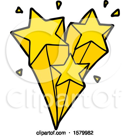 Royalty Free RF Shooting Star Clipart Illustrations Vector Graphics 1