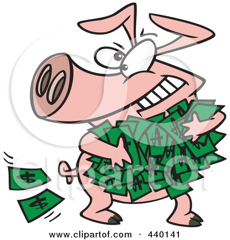 Image result for images of wealthy eating their money like pigs