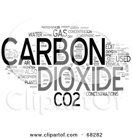 Royalty Free RF Clipart Illustration Of A Carbon Dioxide
