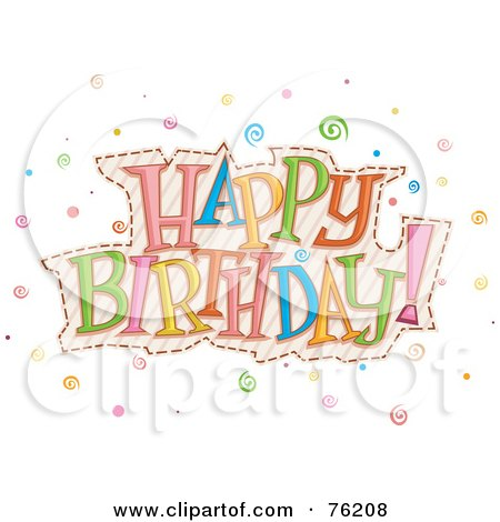 Cartoon Of Colorful Gift Boxes Spelling Happy Birthday