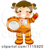 Royalty-free (RF) Clipart Illustration of an Astronaut Dpg ...