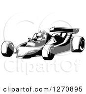 Cartoon Of A Boy Driving A Race Car Royalty Free Vector