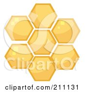 Royalty Free RF Clipart Illustration Of Honey Combs In A Hive by HitToon