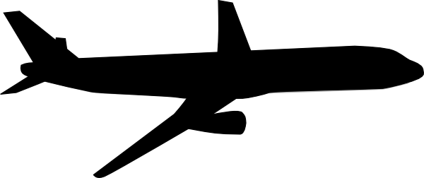 Image result for air plane clip art black and white