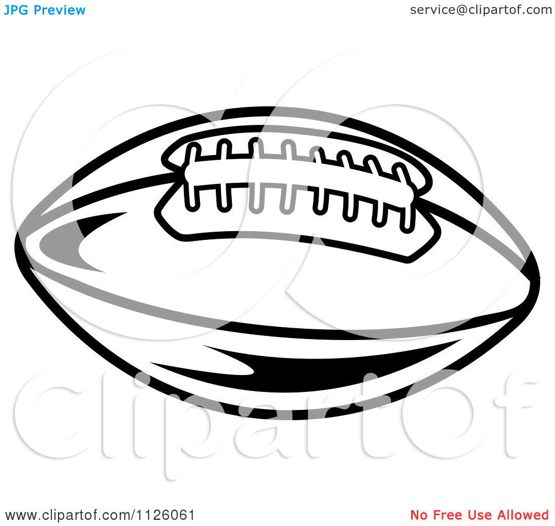 American Football Vector Black And White