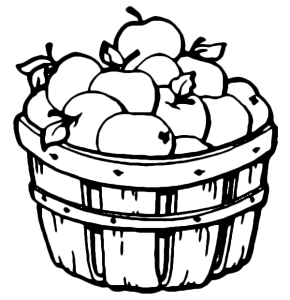 Apple Basket Coloring Pages Clipart Panda Free Images