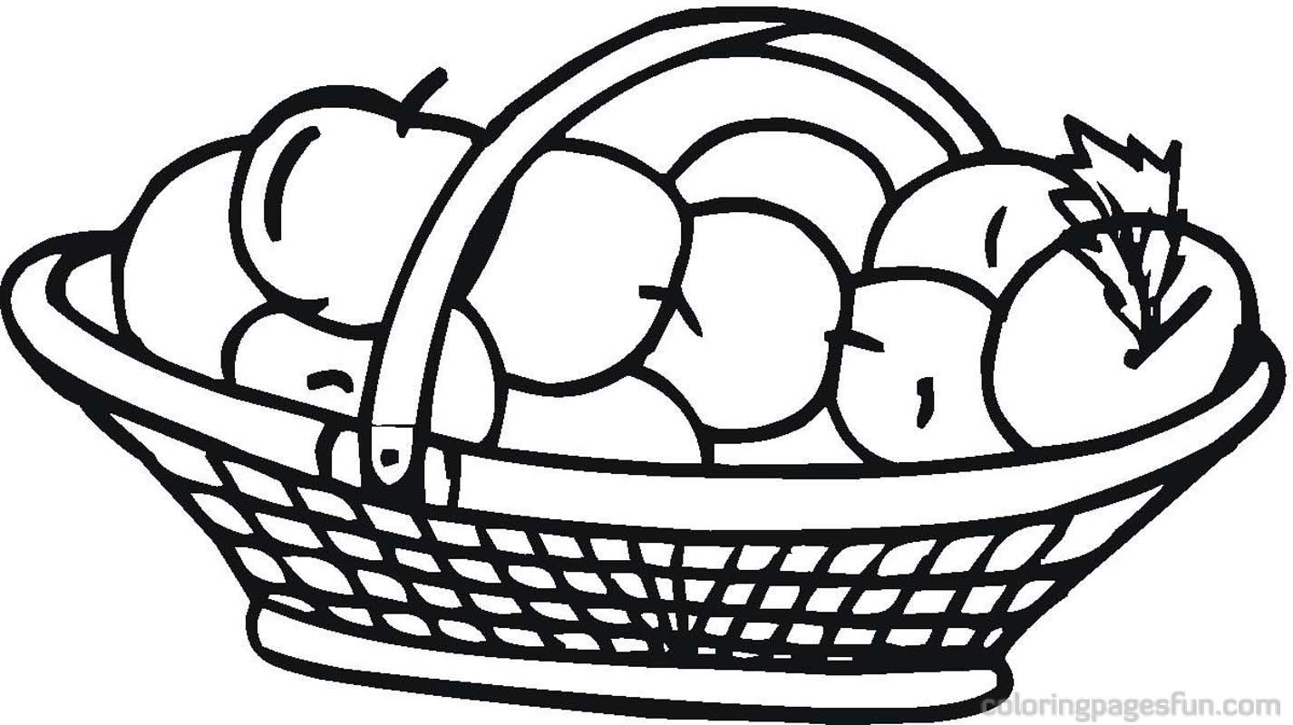 Basket Coloring Pages Basket Clipart Panda