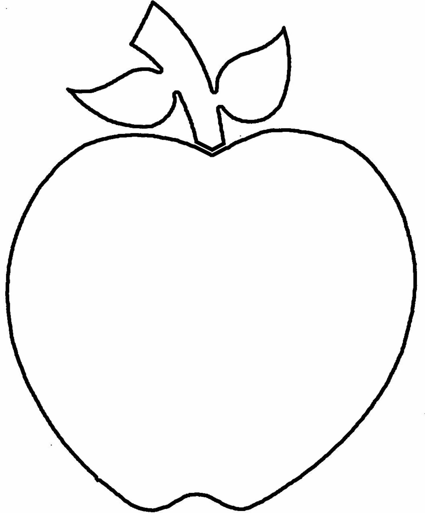 Apple Outline Clip Art Clipart Panda