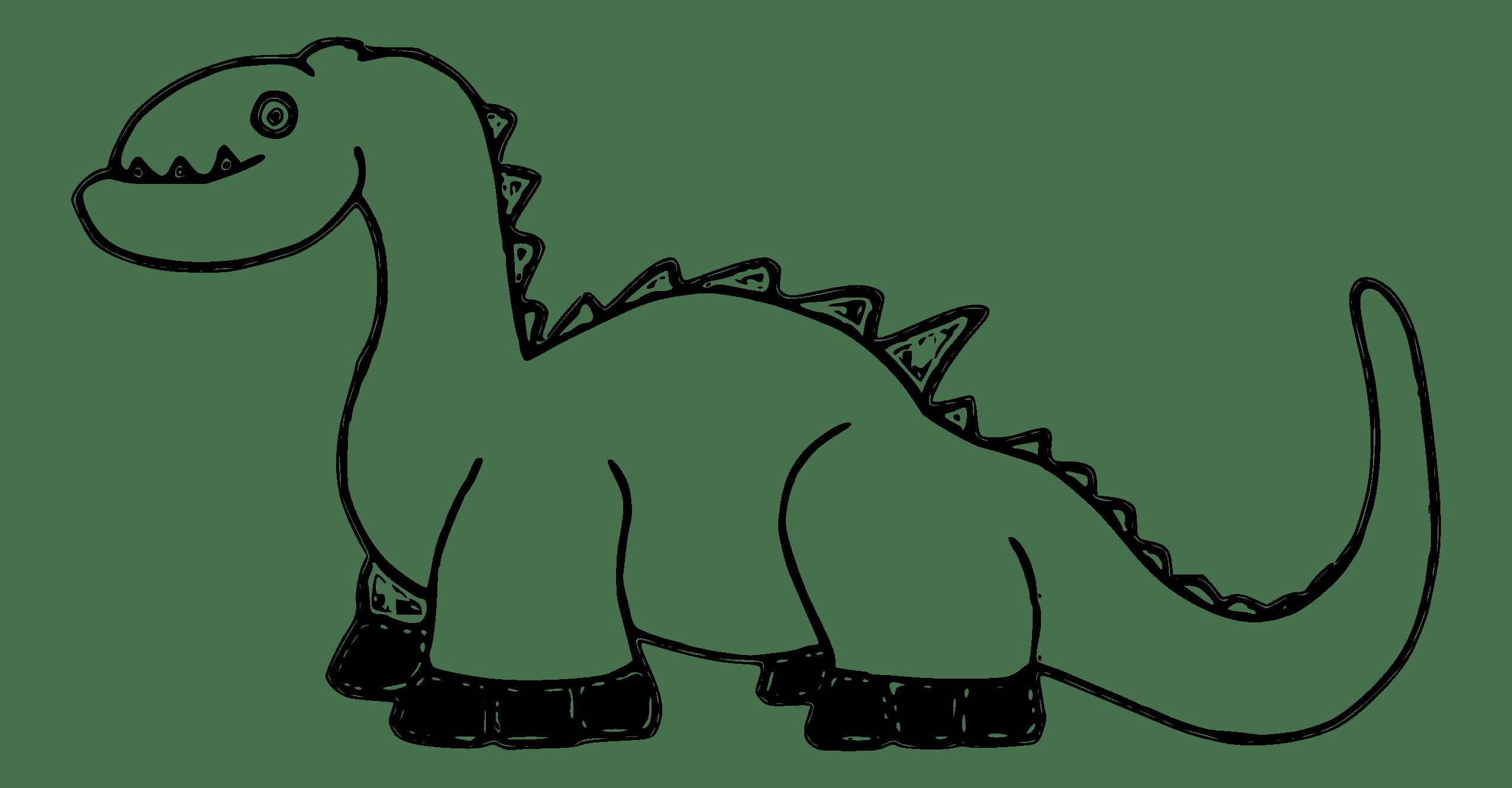 Baby Dinosaur Clip Art Black And White