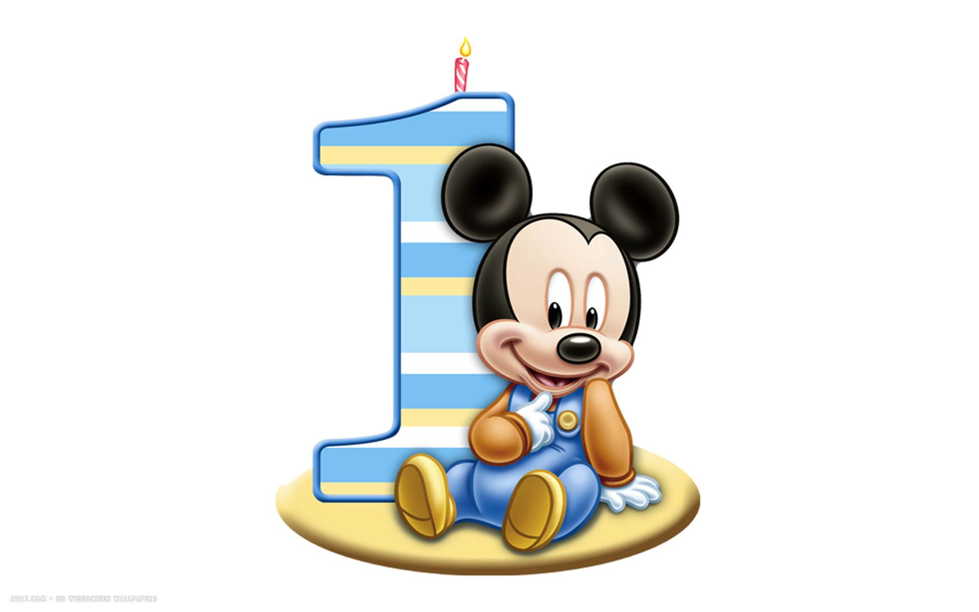 Baby Mickey Mouse 1st Birthday Clip Art Clipart Panda