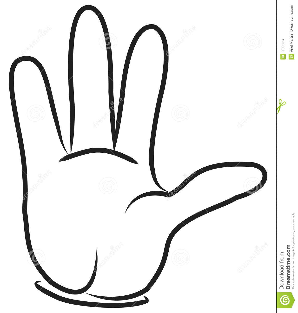 Back Of Hand Outline Clipart Panda