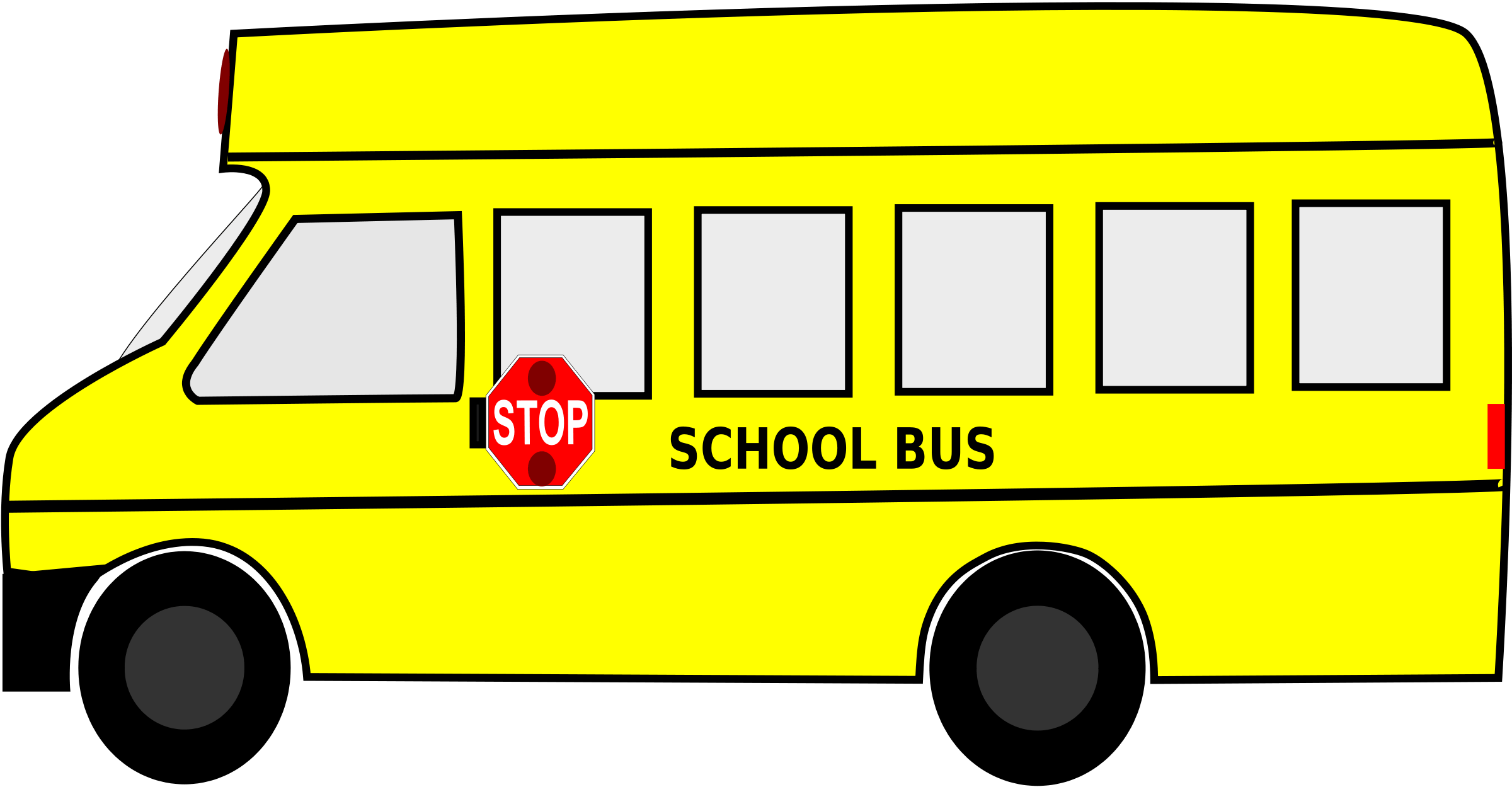 Back Of School Bus Clipart Clipart Panda