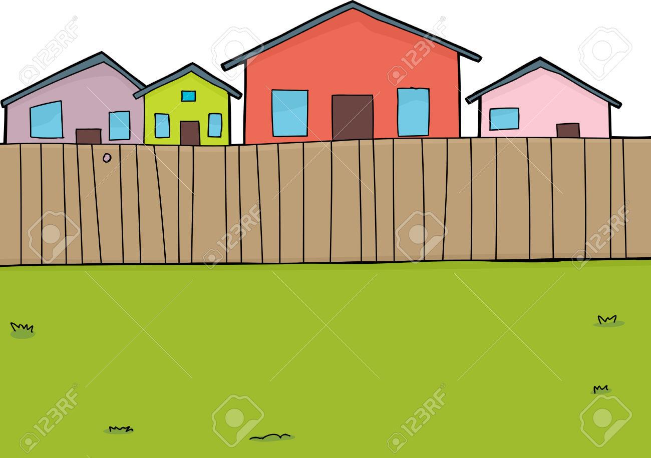 Fenced Yard Clip Art