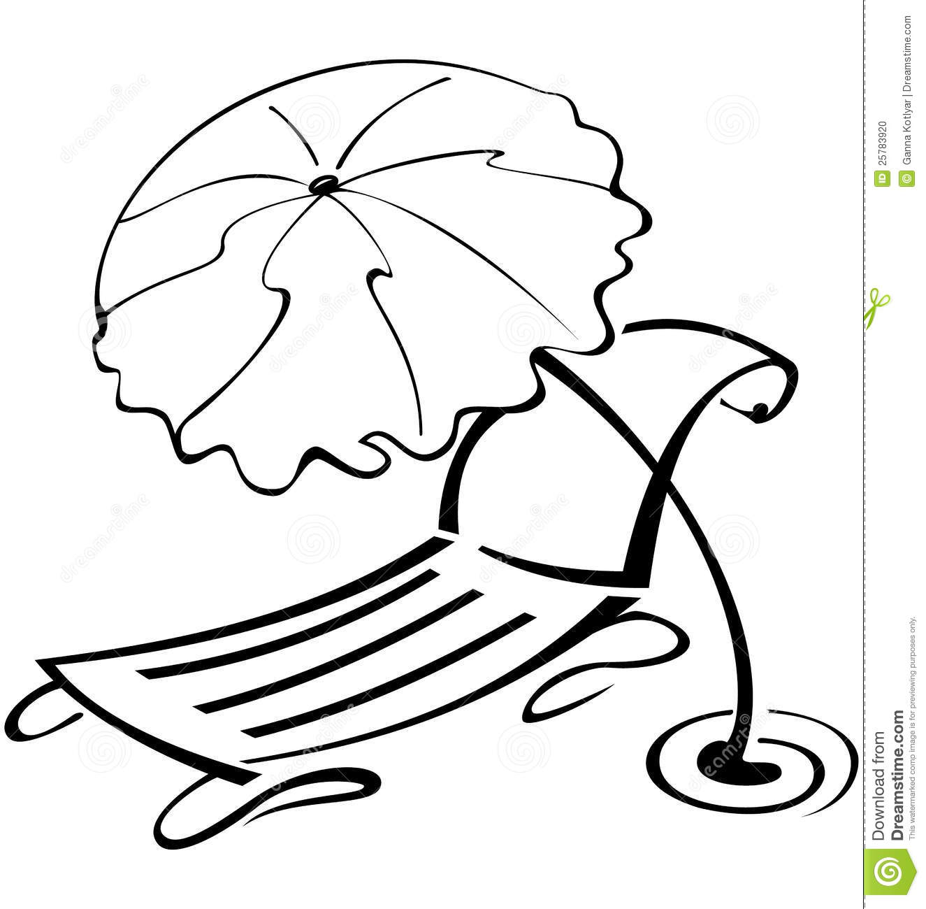 Beach Chair Clipart Black And White Clipart Panda
