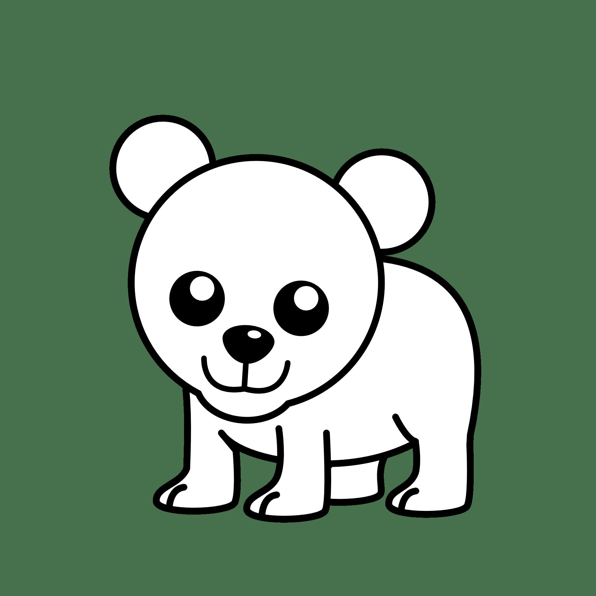 Polar Bear Clipart Black And White Clipart Panda