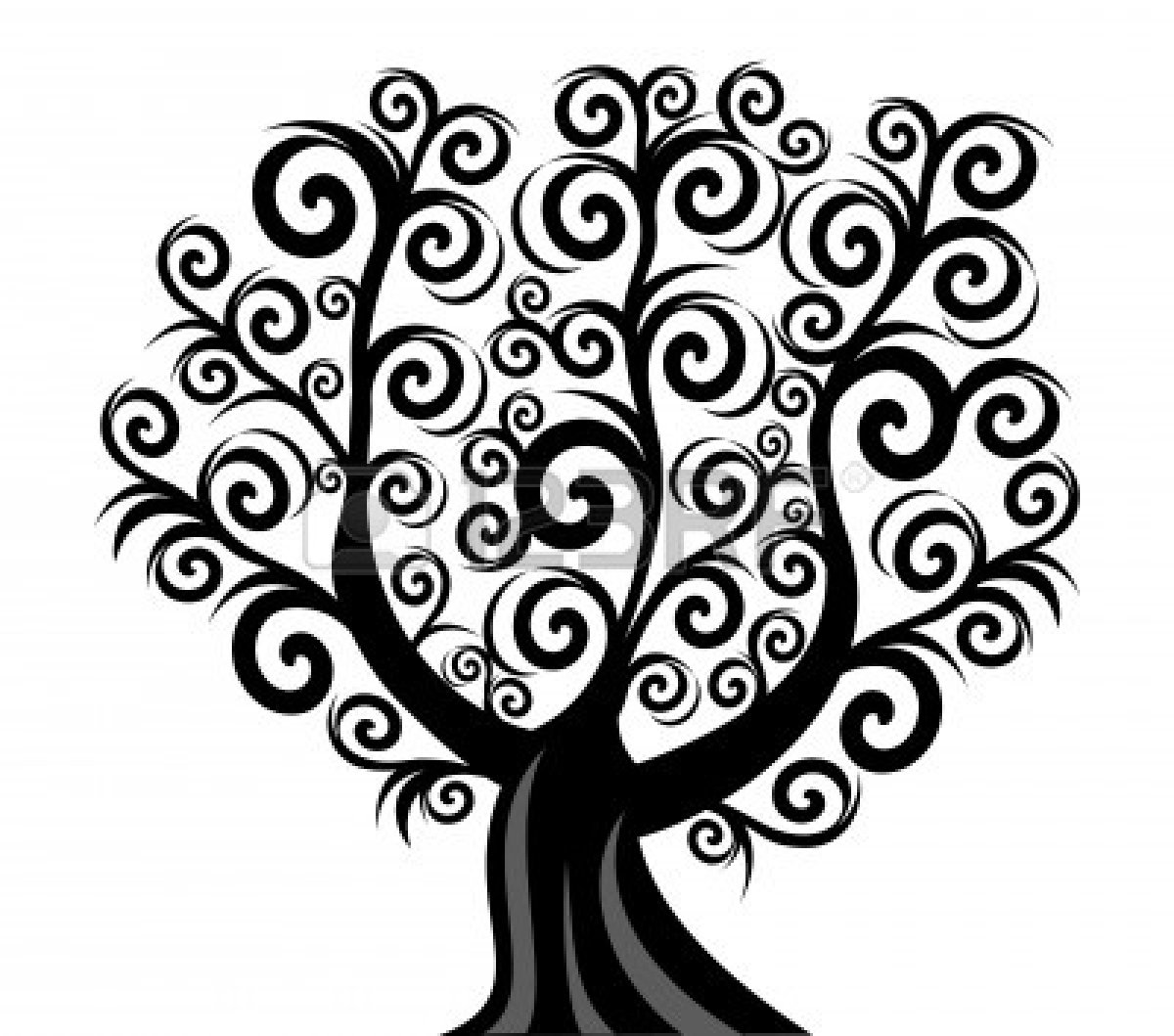 Black And White Bare Tree Clipart Clipart Panda